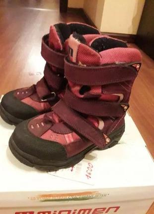 Зимние сапоги на девочку minimen 161-02 17см. стелька