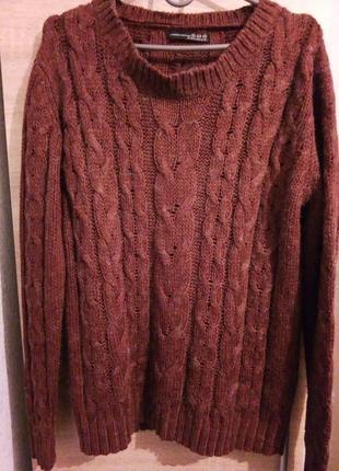 Актуальный терракотовый свитерок