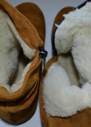 Очень комфортные зимние ботинки из замши