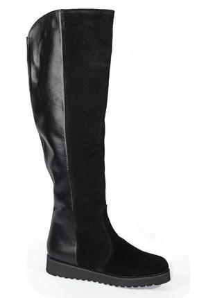 Сапоги -ботфорты 43-44 р кожаные большого размера