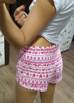 Шортики шорты новогодние красивые домашняя одежда пижама