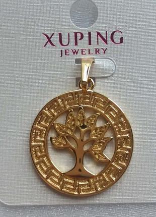 Медзолото,кулон,медальон,подвеска дерево жизни