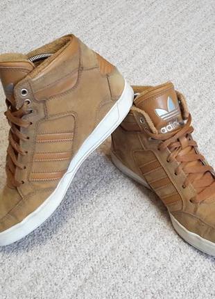 Кроссовки унисекс adidas originals hardcourt waxy оригинал! 38.5 размер, кожа нубук