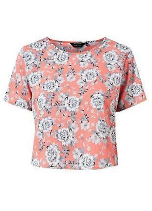 Блузка кроп топ цветочный принт crop top, размер m-l