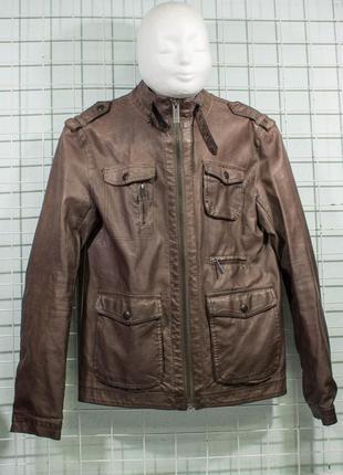 Куртка мужская еко кожа zara man размре s состояние отличное, есть микро но1
