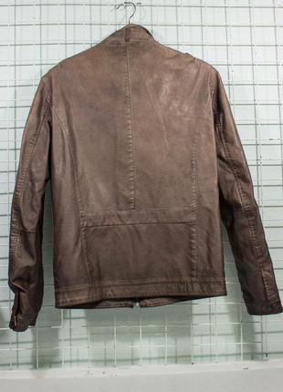 Куртка мужская еко кожа zara man размре s состояние отличное, есть микро но2