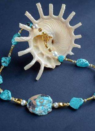 """Дизайнерское ожерелье """"blue lagoon""""💙🌊"""