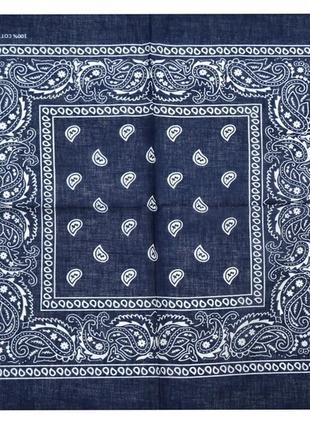 Бандана классика синий повязка на голову в наличии