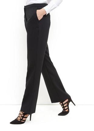 Чёрные классические брюки, прямые штаны, ровные костюмные