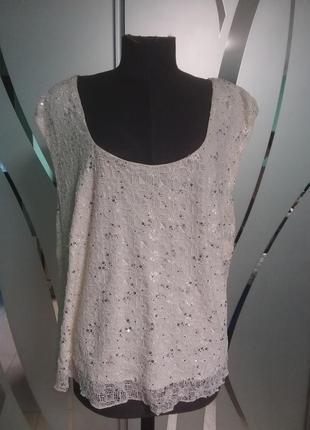 Нарядная блуза в паетках большого  24 размера