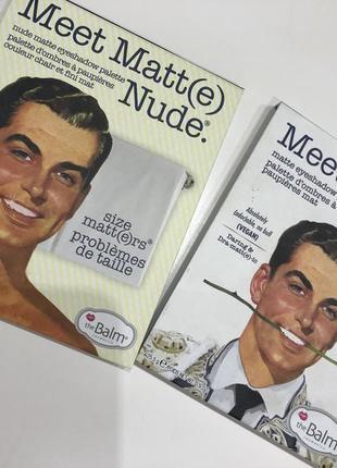 Продам палетку с тенями от the balm (meet matte nude) i (meet matte ador)