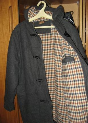 Пальто шерстяное парка куртка зимнее новое размер l без единого дефекта