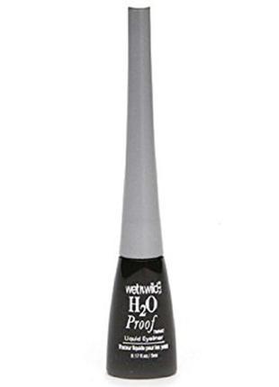 Водостойкая подводка wet n wild h2oproof liquid eyeliner e881 ultra black черная фетровая