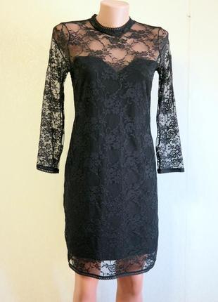 Платье кружевное с открытой спинкой