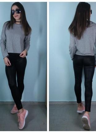 Кофта с окантовкой ,кроп-топ,пуловер темно-серая - zara1