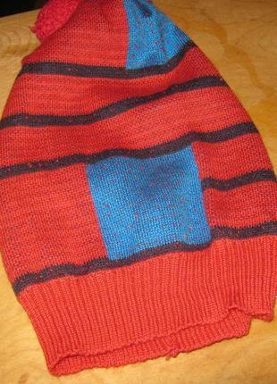 Шерстяная шапка ручной работы теплая hand made