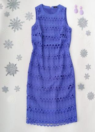 Кружевное платье миди по фигуре от  m&co размер м