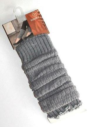 Тонкие осенние гетры с вискозой, серый меланж, модный аксессуар, германия.