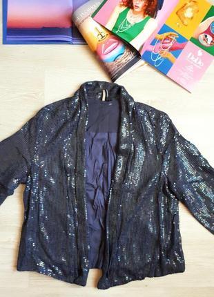 Пиджак в пайетках / блестящий жакет topshop /2я вещь в подарок