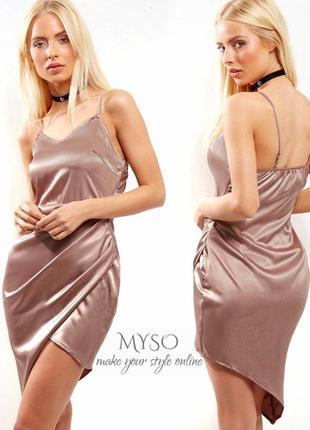 Сатиновое платье в бельевом стиле parisian collection