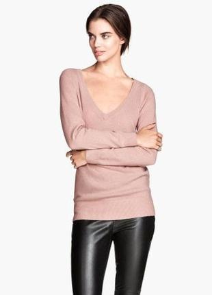 H&m cashmere 100 % кашемир . цена низкая !!! натуральная пудровая кофточка