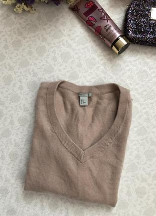H&m cashmere 100 % кашемир . цена низкая !!! натуральная пудровая кофточка2 фото