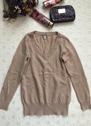 H&m cashmere 100 % кашемир . цена низкая !!! натуральная пудровая кофточка3 фото