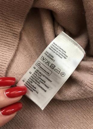 H&m cashmere 100 % кашемир . цена низкая !!! натуральная пудровая кофточка4 фото