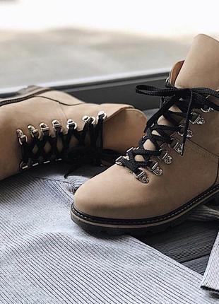Ботинки из нубука(зимние на меху)