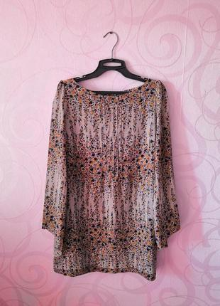Платье с цветами, стиль 70-х, легкое платье, новый год, выпускной, цветочный принт