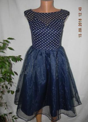 Платье в горошек с пышной юбкой lindy bor