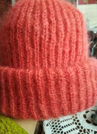 Красивейшая шапочка из королевского махера