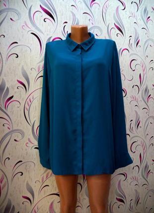 Mast-hev.изумрудная базовая шифоновая рубашка для деловой роскошной леди рр 20
