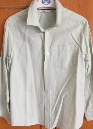 Мятная рубашка для мальчика