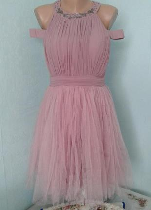 Платье на фатине