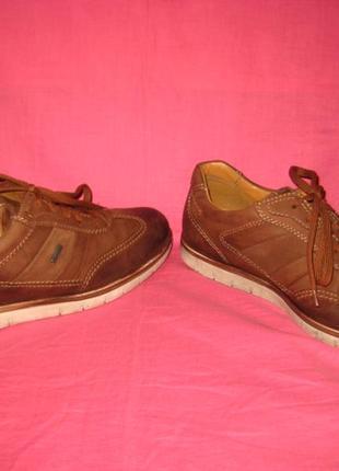 Фирменные кожаные туфли fretz men с мембраной gore-tex оригинал - 41 размер
