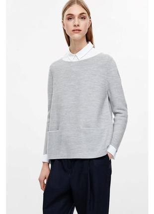 Шерстяная кофта джемпер cos 100% merino wool / m