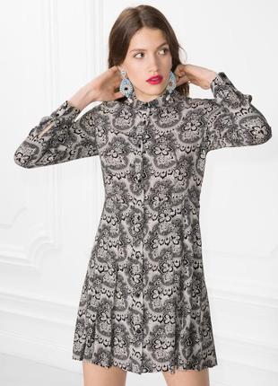 Приталенное платье рубашка & other stories
