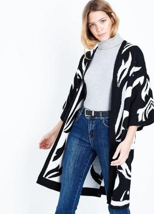 Тёплое вязаное кимоно, кардиган актуальный оверсайз