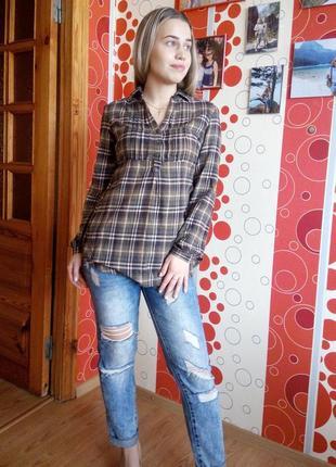 Фланелевая рубашка-туника