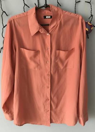Рубашка блузка коралловая bik bok