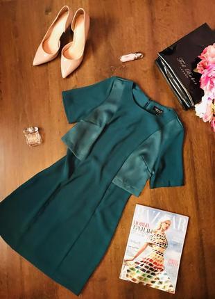 Стильное и оригинальное платье с обманкой-накидкой topshop