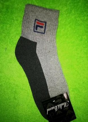 Теплые махровые носки fila серые