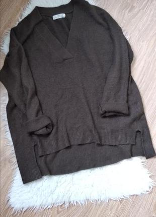 Стильный свитер оверсайз в составе шерсть h&m