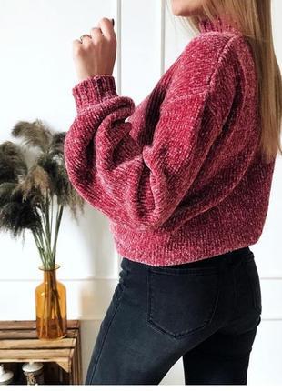Плюшевый велюровый свитер next