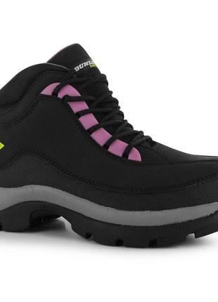 Зимние брендовые кожаные ботинки спортивного типа dunlop safe hike