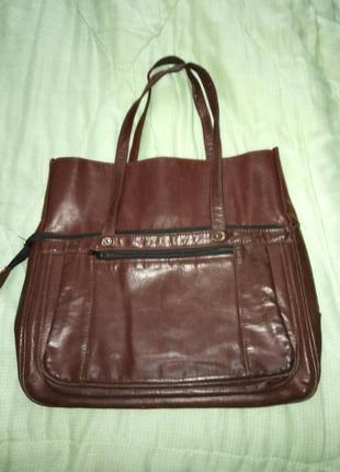 Стильная фирменная сумка - шоппер.