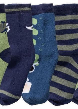 Теплые махровые носки с динозаврами на мальчика, lupilu