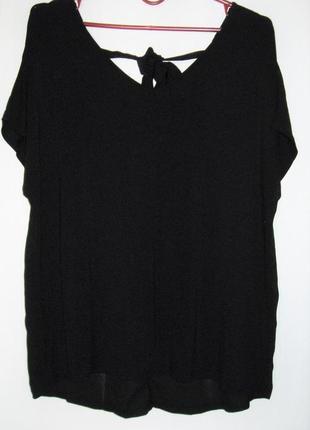 Блуза на завязке вискоза-шифон