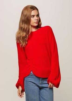 Джемпер реглан свитер с драпировкой на рукавах f&f